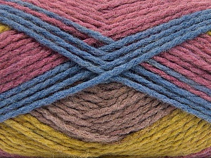 Fiber Content 70% Acrylic, 30% Wool, Orchid, Olive Green, Lilac, Brand Ice Yarns, Blue, Yarn Thickness 4 Medium Worsted, Afghan, Aran, fnt2-53556