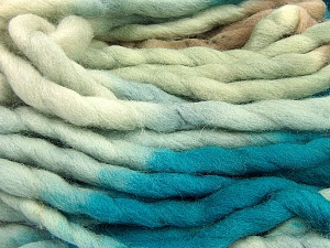 Fiber Content 100% Superwash Wool, Turquoise, Brand ICE, Camel, Beige, Yarn Thickness 6 SuperBulky  Bulky, Roving, fnt2-53568
