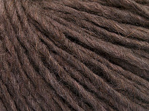 Fiber Content 50% Merino Wool, 25% Alpaca, 25% Acrylic, Brand ICE, Brown Melange, Yarn Thickness 4 Medium  Worsted, Afghan, Aran, fnt2-53596