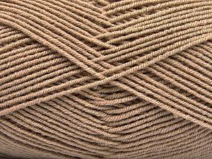 Fiber Content 70% Acrylic, 30% Wool, Brand ICE, Camel, Yarn Thickness 4 Medium  Worsted, Afghan, Aran, fnt2-53714