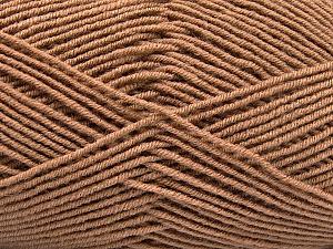 Fiber Content 70% Acrylic, 30% Wool, Brand ICE, Camel, Yarn Thickness 4 Medium  Worsted, Afghan, Aran, fnt2-53715