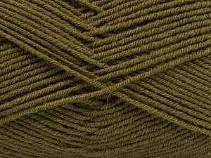Fiber Content 70% Acrylic, 30% Wool, Brand ICE, Dark Khaki, Yarn Thickness 4 Medium  Worsted, Afghan, Aran, fnt2-53717