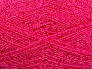 Fiber Content 60% Merino Wool, 40% Acrylic, Brand ICE, Bright Pink, Yarn Thickness 2 Fine  Sport, Baby, fnt2-53825