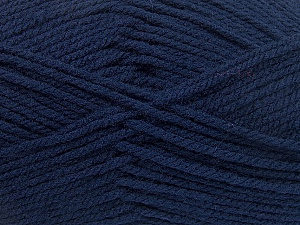Worsted  Fiber Content 100% Acrylic, Navy, Brand ICE, Yarn Thickness 4 Medium  Worsted, Afghan, Aran, fnt2-53828