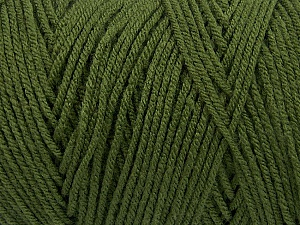 Items made with this yarn are machine washable & dryable. Fiber Content 100% Dralon Acrylic, Brand ICE, Dark Green, Yarn Thickness 4 Medium  Worsted, Afghan, Aran, fnt2-53921