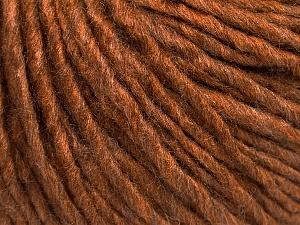 Fiber Content 50% Acrylic, 50% Wool, Brand ICE, Caramel, Yarn Thickness 5 Bulky  Chunky, Craft, Rug, fnt2-54033