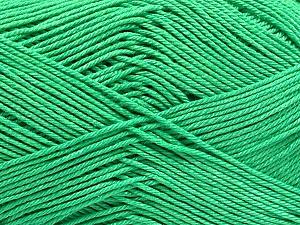 Ne: 8/4. Nm 14/4 Fiber Content 100% Mercerised Cotton, Brand ICE, Emerald Green, Yarn Thickness 2 Fine  Sport, Baby, fnt2-54055