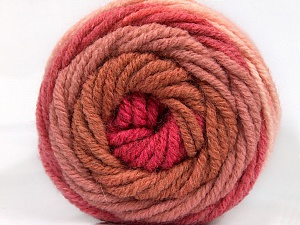 Fiber Content 70% Acrylic, 30% Wool, Salmon, Rose Pink, Rose Brown, Pink, Brand ICE, Yarn Thickness 5 Bulky  Chunky, Craft, Rug, fnt2-54070
