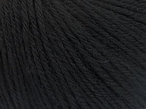 Fiber Content 100% Wool, Brand ICE, Black, Yarn Thickness 4 Medium  Worsted, Afghan, Aran, fnt2-54116