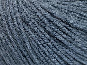Fiber Content 100% Wool, Smoke Blue, Brand ICE, Yarn Thickness 4 Medium  Worsted, Afghan, Aran, fnt2-54117