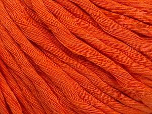 Fiber Content 100% Cotton, Orange, Brand ICE, Yarn Thickness 5 Bulky  Chunky, Craft, Rug, fnt2-54125