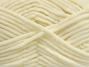 Fiber Content 100% Micro Fiber, Brand ICE, Cream, Yarn Thickness 4 Medium  Worsted, Afghan, Aran, fnt2-54139
