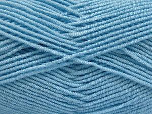 Fiber Content 50% Bamboo, 50% Acrylic, Brand Ice Yarns, Baby Blue, Yarn Thickness 2 Fine Sport, Baby, fnt2-54232