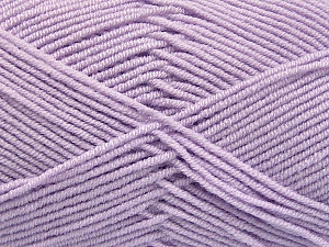 Fiber Content 50% Acrylic, 50% Bamboo, Brand Ice Yarns, Baby Lilac, Yarn Thickness 2 Fine Sport, Baby, fnt2-54233