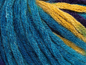 Fiber Content 50% Wool, 50% Acrylic, Turquoise, Purple, Brand ICE, Gold, Yarn Thickness 6 SuperBulky  Bulky, Roving, fnt2-54386