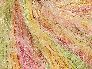 Fiber Content 100% Polyester, Yellow, Pink, Brand Ice Yarns, Green, Cream, Yarn Thickness 5 Bulky Chunky, Craft, Rug, fnt2-54423