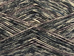 Fiber Content 75% Superwash Wool, 25% Polyamide, Brand ICE, Grey Shades, Cream, Yarn Thickness 1 SuperFine  Sock, Fingering, Baby, fnt2-54431