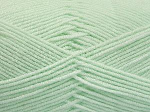 Fiber Content 50% Bamboo, 50% Acrylic, Mint Green, Brand Ice Yarns, Yarn Thickness 2 Fine Sport, Baby, fnt2-54434