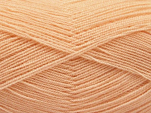 Very thin yarn. It is spinned as two threads. So you will knit as two threads. Yardage information is for only one strand. Fiber Content 100% Acrylic, Powder, Brand ICE, Yarn Thickness 1 SuperFine  Sock, Fingering, Baby, fnt2-54715