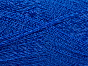 Very thin yarn. It is spinned as two threads. So you will knit as two threads. Yardage information is for only one strand. Fiber Content 100% Acrylic, Brand ICE, Blue, Yarn Thickness 1 SuperFine  Sock, Fingering, Baby, fnt2-54719