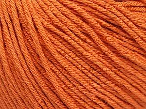Global Organic Textile Standard (GOTS) Certified Product. CUC-TR-017 PRJ 805332/918191 Fiber Content 100% Organic Cotton, Orange, Brand Ice Yarns, Yarn Thickness 3 Light DK, Light, Worsted, fnt2-54733