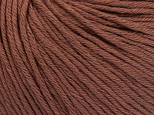Global Organic Textile Standard (GOTS) Certified Product. CUC-TR-017 PRJ 805332/918191 Fiber Content 100% Organic Cotton, Rose Brown, Brand Ice Yarns, Yarn Thickness 3 Light DK, Light, Worsted, fnt2-54795