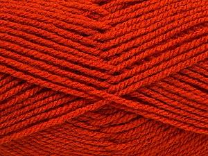 Worsted  Fiber Content 100% Acrylic, Orange, Brand ICE, Yarn Thickness 4 Medium  Worsted, Afghan, Aran, fnt2-54877