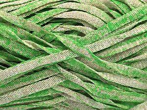 Fiber Content 82% Viscose, 18% Polyester, Brand ICE, Green, Beige, Yarn Thickness 5 Bulky  Chunky, Craft, Rug, fnt2-55033
