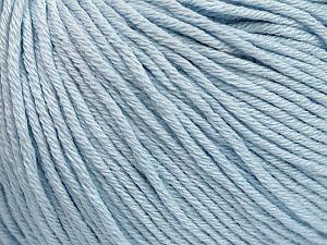 Global Organic Textile Standard (GOTS) Certified Product. CUC-TR-017 PRJ 805332/918191 Fiber Content 100% Organic Cotton, Light Blue, Brand Ice Yarns, Yarn Thickness 3 Light DK, Light, Worsted, fnt2-55217