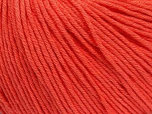 Global Organic Textile Standard (GOTS) Certified Product. CUC-TR-017 PRJ 805332/918191 Fiber Content 100% Organic Cotton, Salmon, Brand Ice Yarns, Yarn Thickness 3 Light DK, Light, Worsted, fnt2-55220
