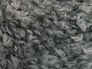Fiber Content 45% Acrylic, 25% Wool, 20% Mohair, 10% Polyamide, Brand ICE, Grey, Yarn Thickness 4 Medium  Worsted, Afghan, Aran, fnt2-55224