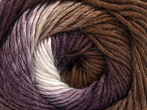 Fiber Content 50% Acrylic, 50% Wool, White, Purple, Brand Ice Yarns, Brown, Yarn Thickness 2 Fine Sport, Baby, fnt2-55383