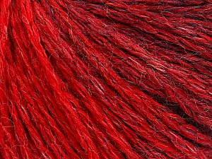 Fiber Content 55% Acrylic, 30% Wool, 15% Polyamide, Red, Navy, Brand ICE, Yarn Thickness 3 Light  DK, Light, Worsted, fnt2-55424