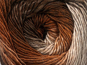 Fiber Content 50% Acrylic, 50% Wool, Brand ICE, Cream, Brown Shades, Yarn Thickness 2 Fine  Sport, Baby, fnt2-55455