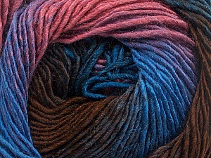 Fiber Content 50% Acrylic, 50% Wool, Rose Pink, Lilac, Brand Ice Yarns, Brown, Blue, Yarn Thickness 2 Fine Sport, Baby, fnt2-55456