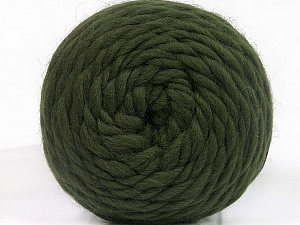 Fiber Content 100% Wool, Brand ICE, Dark Green, Yarn Thickness 6 SuperBulky  Bulky, Roving, fnt2-55485