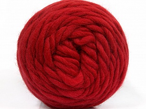 Fiber Content 100% Wool, Red, Brand ICE, Yarn Thickness 6 SuperBulky  Bulky, Roving, fnt2-55487