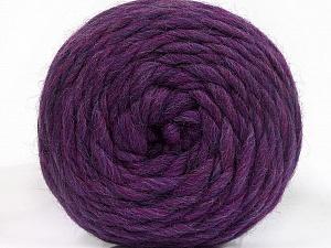 Fiber Content 100% Wool, Purple Melange, Brand ICE, Yarn Thickness 6 SuperBulky  Bulky, Roving, fnt2-55494