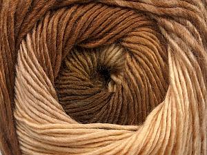 Fiber Content 50% Acrylic, 50% Wool, Brand Ice Yarns, Cream, Brown Shades, Yarn Thickness 2 Fine Sport, Baby, fnt2-55517
