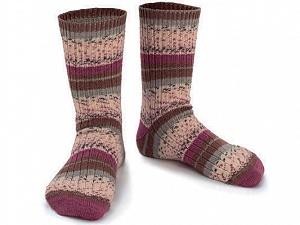 Fiber Content 75% Superwash Wool, 25% Polyamide, Purple, Brand ICE, Grey, Cream, Brown, Yarn Thickness 1 SuperFine  Sock, Fingering, Baby, fnt2-55541