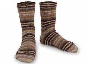 Fiber Content 75% Superwash Wool, 25% Polyamide, Brand ICE, Grey, Cream, Brown Shades, Yarn Thickness 1 SuperFine  Sock, Fingering, Baby, fnt2-55549