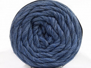 Fiber Content 100% Wool, Jeans Blue, Brand ICE, Yarn Thickness 6 SuperBulky  Bulky, Roving, fnt2-55657