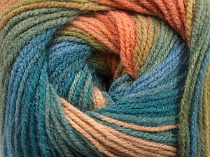 Fiber Content 100% Acrylic, Turquoise, Salmon, Brand ICE, Green Shades, Blue, Yarn Thickness 3 Light  DK, Light, Worsted, fnt2-55955