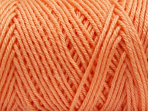 Items made with this yarn are machine washable & dryable. Fiber Content 100% Dralon Acrylic, Light Orange, Brand ICE, Yarn Thickness 4 Medium  Worsted, Afghan, Aran, fnt2-56127