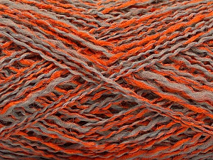 Fiber Content 44% Acrylic, 44% Wool, 12% Polyamide, Orange, Light Grey, Brand ICE, Yarn Thickness 2 Fine  Sport, Baby, fnt2-56196