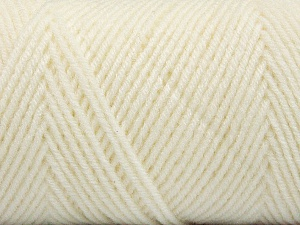 Fiber Content 50% Wool, 50% Acrylic, White, Brand ICE, Yarn Thickness 3 Light  DK, Light, Worsted, fnt2-56423