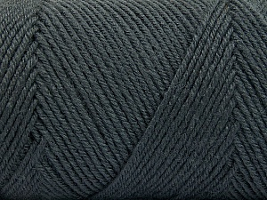 Fiber Content 50% Acrylic, 50% Wool, Brand ICE, Dark Grey, Yarn Thickness 3 Light  DK, Light, Worsted, fnt2-56426