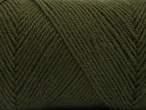 Fiber Content 50% Wool, 50% Acrylic, Brand ICE, Dark Khaki, Yarn Thickness 3 Light  DK, Light, Worsted, fnt2-56430