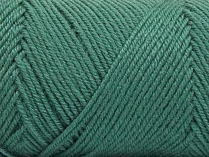 Fiber Content 50% Wool, 50% Acrylic, Sea Green, Brand ICE, Yarn Thickness 3 Light  DK, Light, Worsted, fnt2-56432
