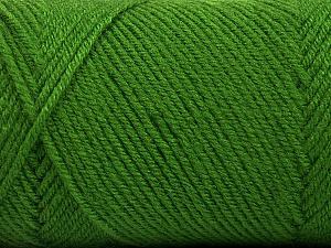 Fiber Content 50% Wool, 50% Acrylic, Brand ICE, Green, Yarn Thickness 3 Light  DK, Light, Worsted, fnt2-56433